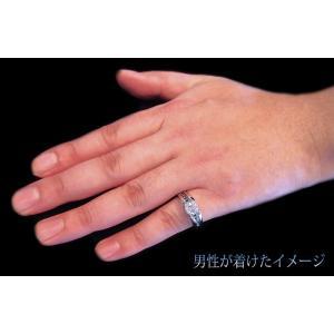 リング 指輪 中石 一粒 ダイヤモンド 1カラット 1.319ct 両腕 ブラック ダイヤ ライン 立体的 幅広 ワイド リング プラチナ Pt900|alliegold|09