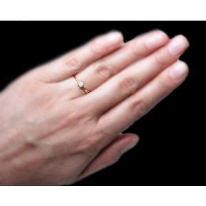 リング 指輪 18金 イエロー ゴールド K18 YG ダイヤモンド ダイヤ 一粒 伏せ込み レール 留め ラウンド 二連 ツーライン レディース 送料無料 新品|alliegold|05