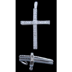 ペンダント トップ ヘッド 18金 ホワイト ゴールド K18 WG ダイヤモンド ダイヤ 1カラット 1.0ct スウィング 動く 十字架 クロス cross 兼 ブローチ レディース|alliegold|02