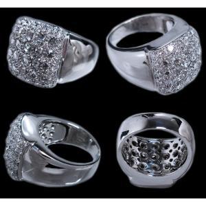 男 手作り メンズ リング 指輪 18金 ホワイトゴールド K18 WG ローズ カット & ラウンドブリリアント ダイヤモンド ダイヤ dia 1カラット 1.4 ct 角 型 印台|alliegold|04