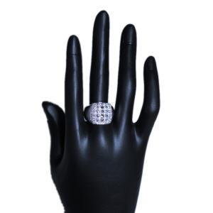 男 手作り メンズ リング 指輪 18金 ホワイトゴールド K18 WG ローズ カット & ラウンドブリリアント ダイヤモンド ダイヤ dia 1カラット 1.4 ct 角 型 印台|alliegold|06