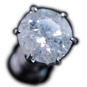 ピアス pierced シングル 片 耳 方 プラチナ Pt900 一粒 ダイヤモンド ダイヤ dia 1 カラット 1.0 ct ソーティング 鑑定 手作り 6 本 点 爪 レディース メンズ|alliegold