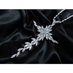 ペンダント ネックレス 18金 ホワイト ゴールド K18 WG ダイヤモンド ダイヤ 3カラット 3.0ct 雪の結晶 十字架 クロス cross レディース メンズ 送料無料 新品|alliegold|04