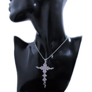 ペンダント ネックレス 18金 ホワイト ゴールド K18 WG ダイヤモンド ダイヤ 3カラット 3.0ct 雪の結晶 十字架 クロス cross レディース メンズ 送料無料 新品|alliegold|05