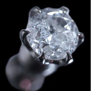 ピアス シングル 片 耳 方 プラチナ Pt900 一粒 ダイヤモンド ダイヤ dia 0.8 カラット 0.80 ct ソーティング 鑑定 手作り 6 本 点 爪 レディース メンズ|alliegold|05