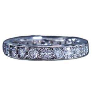 リング 指輪 フル エタニティ 高品質 ダイヤモンド ダイヤ 1カラット 1.140ct プラチナ Pt900 7.0号|alliegold