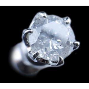 ピアス pierced シングル 片耳 片方 プラチナPt900 一粒 ダイヤモンド ダイヤ dia 0.5 カラット 0.50 0.55 ct H I-1 FAIR 鑑定 ソーティング レディース メンズ alliegold 02