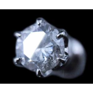 ピアス pierced シングル 片耳 片方 プラチナPt900 一粒 ダイヤモンド ダイヤ dia 0.5 カラット 0.50 0.55 ct H I-1 FAIR 鑑定 ソーティング レディース メンズ alliegold 04