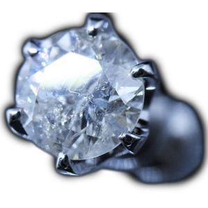 ピアス pierced シングル 片耳 片方 プラチナ Pt900 一粒 ダイヤモンド ダイヤ dia 0.8 カラット 0.80 ct 鑑定 ソーティング 6 本 点 爪 レディース メンズ alliegold