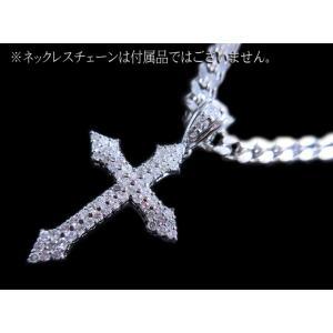 ペンダント トップ ヘッド 18金 14金 ホワイト ゴールド K18 WG K14 ダイヤモンド ダイヤ 1カラット 1.0ct シンプル 十字架 クロス レディース 新品 alliegold 05