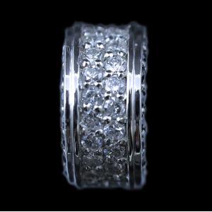 男 手作り ペンダント トップ ヘッド プラチナ Pt900 ダイヤモンド ダイヤ  ブラックダイヤ dia ラウンド サークル 輪 ETERNITY エタニティ リング メンズ 新品|alliegold|04