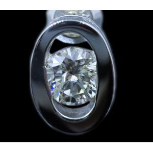 ピアス pierced シングル 片耳 片方 プラチナ Pt900 一粒 ダイヤモンド ダイヤ dia 0.2 カラット 0.20 ct 鑑定 ソーティング OVAL オーバル レディース メンズ alliegold 05