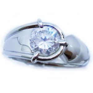 メンズ リング 男 指輪 中石 大粒 一粒 天然ダイヤモンド 1カラット 手作り 幅広 ワイド リング プラチナ Pt900 alliegold 02