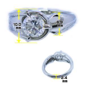 メンズ リング 男 指輪 中石 大粒 一粒 天然ダイヤモンド 1カラット 手作り 幅広 ワイド リング プラチナ Pt900 alliegold 06