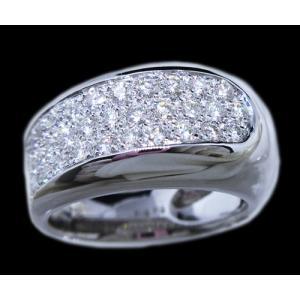 リング 指輪 パヴェ ダイヤモンド ダイヤ 幅広 ワイド 1.0ct 高品質 H&C ハート & キューピッド 鑑別書 付き 18金 ホワイトゴールド K18WG レディース alliegold 02