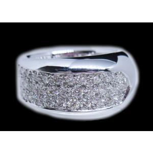リング 指輪 パヴェ ダイヤモンド ダイヤ 幅広 ワイド 1.0ct 高品質 H&C ハート & キューピッド 鑑別書 付き 18金 ホワイトゴールド K18WG レディース alliegold 03