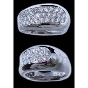 リング 指輪 パヴェ ダイヤモンド ダイヤ 幅広 ワイド 1.0ct 高品質 H&C ハート & キューピッド 鑑別書 付き 18金 ホワイトゴールド K18WG レディース alliegold 04