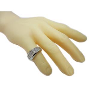 リング 指輪 パヴェ ダイヤモンド ダイヤ 幅広 ワイド 1.0ct 高品質 H&C ハート & キューピッド 鑑別書 付き 18金 ホワイトゴールド K18WG レディース alliegold 07