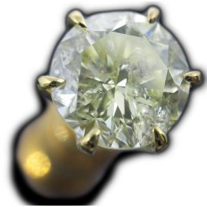 ピアス シングル 片耳 片方 18金 イエロー ゴールド K18 一粒 イエローダイヤモンド ダイヤ 1 カラット 1.0 1.3 ct Light Yellow 鑑定 ソーティング レディース|alliegold