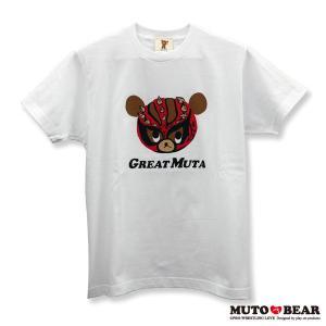 武藤ベアー グレート・ムタ Tシャツ ホワイト alljapan