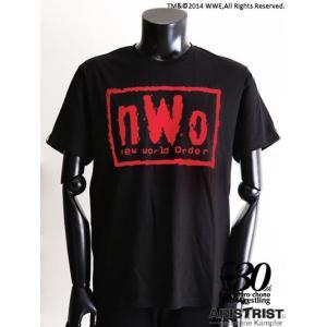 nWo Tシャツ ブラック/レッド (ARISTRIST×WWE) alljapan