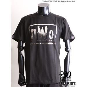 nWo Tシャツ ブラック シルバー箔押しプリント(ARISTRIST×WWE) alljapan