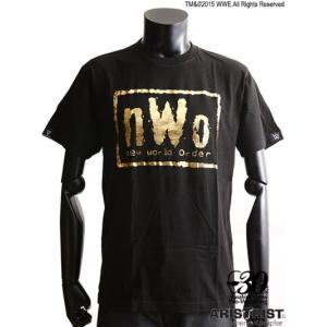 nWo EX-Tシャツ ブラック/ゴールド箔 (ARISTRIST×WWE) alljapan