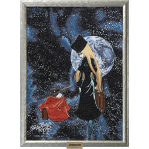 銀河鉄道999 宝石画 メーテル&鉄郎 [フレームシルバー] 【宝石画素材鑑定書付】 alljewelry