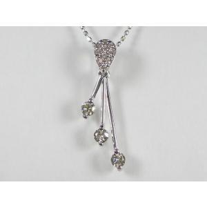 K18WG ホワイトゴールド ダイヤモンド ペンダント ネックレス|alljewelry