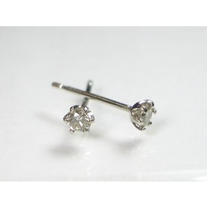 K10WG ホワイトゴールド ダイヤモンド ピアス|alljewelry