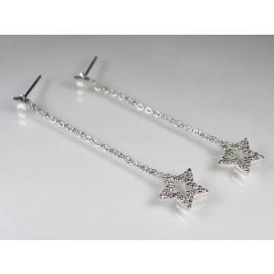 K18WG ホワイトゴールドダイヤモンドスター ブレスレット ピアス|alljewelry