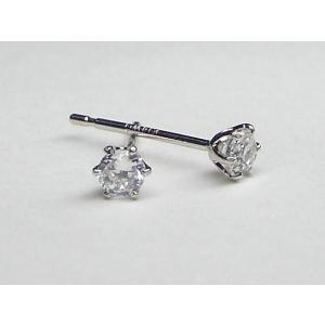 K14WG ホワイトゴールドキュービックジルコニア ピアス|alljewelry