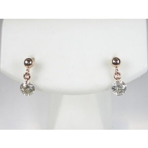 K18PG ピンクゴールド ダイヤモンド ピアス 0.3CT|alljewelry