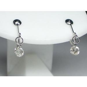 K18WG ホワイトゴールドダイヤモンドイヤ リング 0.3CT|alljewelry