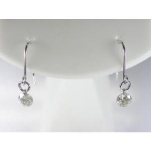 K18WG ホワイトゴールドダイヤモンドフックタイプ ピアス 0.3CT|alljewelry