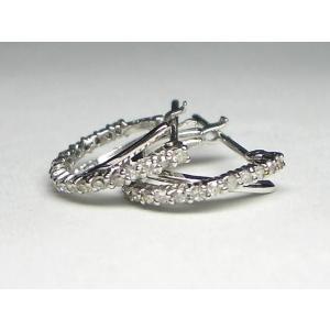 K18WG ホワイトゴールド ダイヤモンド ピアス|alljewelry