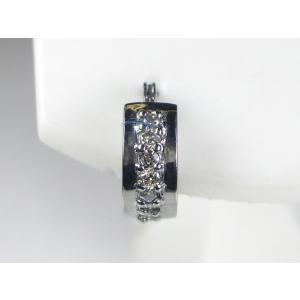 K14WG ホワイトゴールドメンズ ピアス|alljewelry
