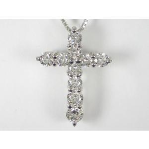PT プラチナダイヤクロス ペンダント ネックレス alljewelry
