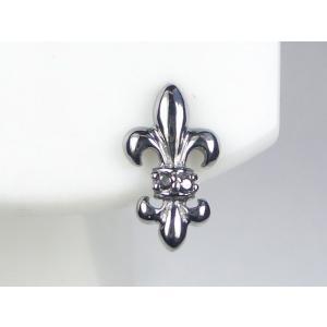 K14WGブラックダイヤメンズ ピアス|alljewelry