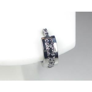K14WGブラックダイヤメンズ ピアス|alljewelry|02