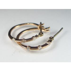 K18PGダイヤ ピアス|alljewelry