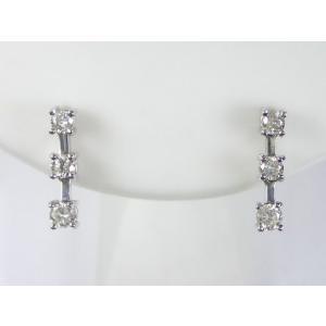 K18WGダイヤ ピアス|alljewelry