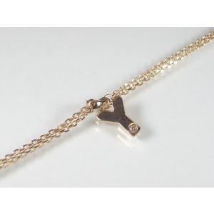イニシャル「Y」K10PG ピンクゴールドダイヤモンド イニシャル ブレスレット alljewelry