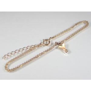 イニシャル「Y」K10PG ピンクゴールドダイヤモンド イニシャル ブレスレット alljewelry 03