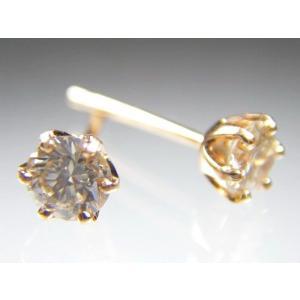 K18PGダイヤスタッド ピアス 0.3CT alljewelry