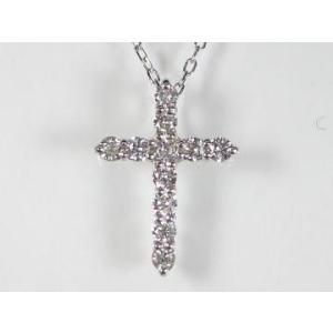 PT プラチナダイヤクロス ペンダント ネックレス|alljewelry