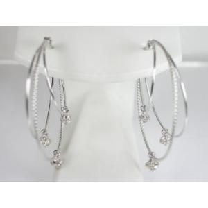 K10WG ホワイトゴールド ダイヤモンド ピアス|alljewelry|02