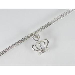 K10WG ホワイトゴールドダイヤモンドクラウン ブレスレット|alljewelry