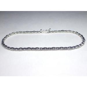 K18WG ホワイトゴールド ダイヤモンド ブレスレット|alljewelry