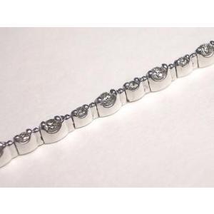 K18WG ホワイトゴールド ダイヤモンド ブレスレット|alljewelry|03